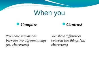 Thesis for compare and contrast essays